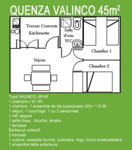 Plan Chalet Quenza Valinco